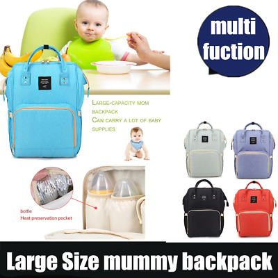 Waterproof Mummy Nappy Diaper Bag Large Capacity Travel Backpack with Handle AF
