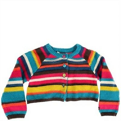 Cute New Baby Girl's Size 0-1 (12 Months) CATIMINI Stripe Cardigan RRP $125