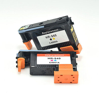 PRINT HEAD 2-Pack HP940 C4900A & C4901A For HP OfficeJet Pro 8000 8500 USEFUL
