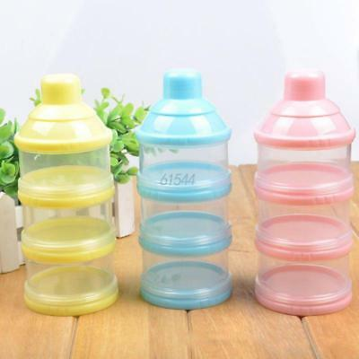 3 Layers Baby Milk Powder Formula Dispenser Feeding Case Box Food Container