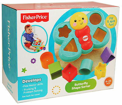 Fisher Price Babys Butterfly Sorter Toy New Sorting