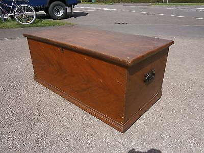 Vintage Antique pine blanket box ottoman / coffee table