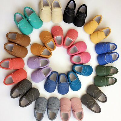 Toddler Baby Soft Sole Leather Shoes Candy Color Kids Boy Girl Toddler Moccasin