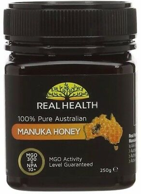 Real Health Pure Australian MANUKA HONEY MGO 300 NPA 10+ 250g - Sealed Exp 2021