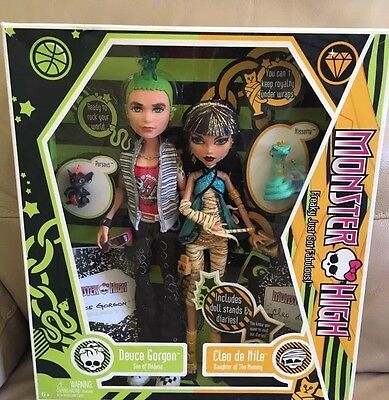 RARE Monster High Doll CLEO De Nile Deuce Gorgon Boy First Wave BRAND NEW Boxed