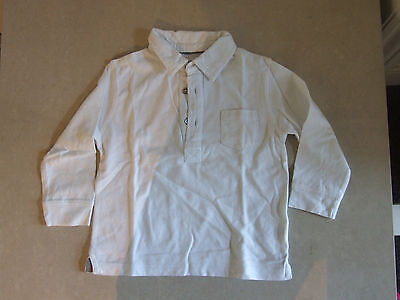 Bout'chou Beautiful French Baby Boy 12 Months White Collared Polo Shirt