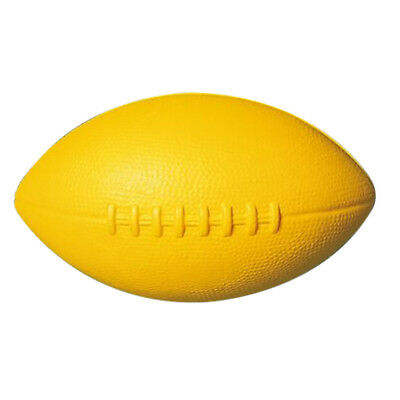 Childrens Indoor Dun Play Games Soft Foam Skinned Rugby Ball 225mm Yellow