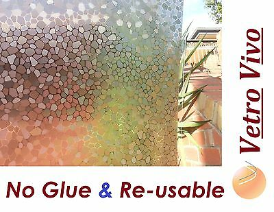 92 CM x 3 M - Stones Reapply/Reusable Static Frosted Window Glass Film