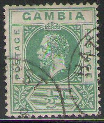 Lot 1860 - Gambia - 1912 ½d green George V used stamp