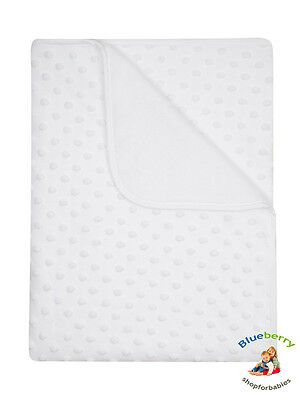 BlueberryShop for Babies  White minky blanket