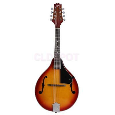 A Style Acoustic Mandolin Sunburs Color 8-string for High Cost Performance