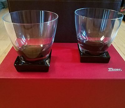 Moser Lancelot Double Old Fashioned Smoke Base - Set of 2 w/Box - Dramatic Heavy