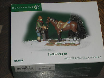 DEPT 56 NEW ENGLAND VILLAGE  Accessory THE HITCHING POST NIB