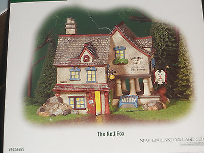 "Department 56 ""The Red Fox""  New England Village 56665 MINT NIB!"