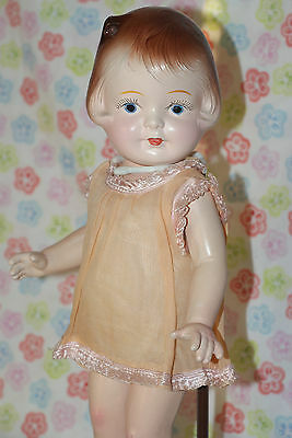 "GORGEOUS!! Vintage 15"" Composition Doll Marked TOY PROCJTS (PRODUCTS?) MFG CO."
