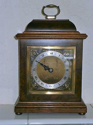 Elliott of London Burr Walnut Time Piece Eight Day  Good Working Order