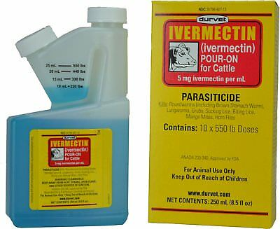 Durvet Ivermectin Pour On 250mL for FREE SHIPPING