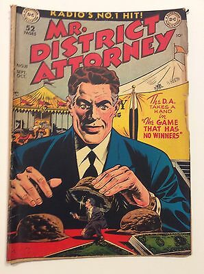 Mr. District Attorney No.11 Sept.-Oct 1949 By National Comics -Radio's No.1 Hit