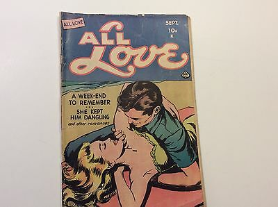 All Love No.28 September 1949 By Current Books Inc. (Ace)