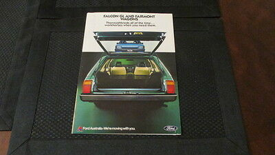 1982 Ford Falcon & Fairmont Station Wagon Sales Brochure From Australia.