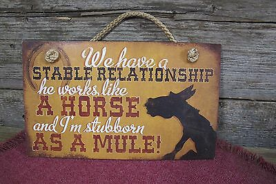 """Husband and Wife Relationship Funny Sign Wall Art Plaque Humourous 9 1/2 """""""