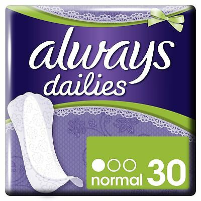 Always Dailies Panty Liners Normal Slim Flexi Style Scented Multiform Pack of 30