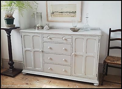 Stunning Antique Painted Vintage Sideboard Farrow & Ball