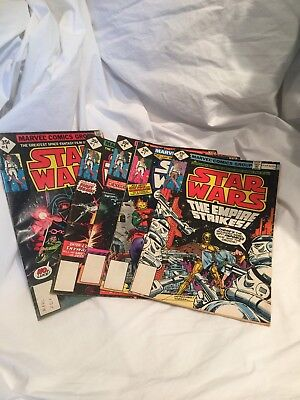 Vintage Repros Of 1977 Star Wars Marvel Comics Group #1, 4, 6, 7, And 18. Fair