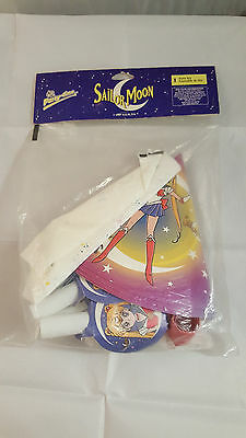 Sailor Moon Vintage Party Supply Lot Set Hats 1997