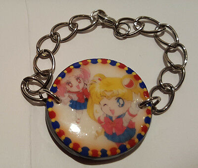 OOAK Sailor Moon Sailor Chibi Moon ChibiMoon Rini Chibiusa Bracelet Cute Usagi