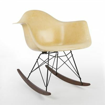Parchment Herman Miller Original Vintage Eames RAR Rocking Arm Shell Chair