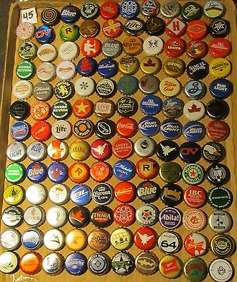 129 different beer/soda bottle caps from 9 different countries (#45)
