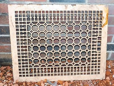 Antique Vtg Cast Iron Floor Grate Register Floor Grille Wall Victorian  18 x 22