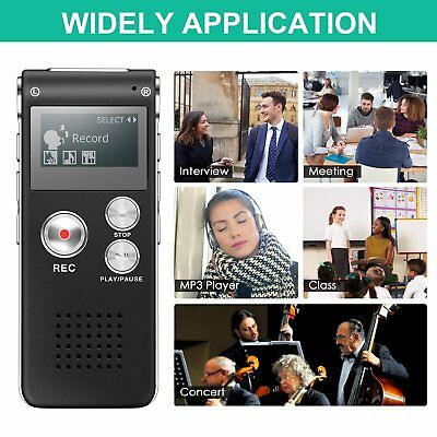 8GB USB Digital Sound Voice Recorder Rechargeable Audio Record Pen Dictaphone UK