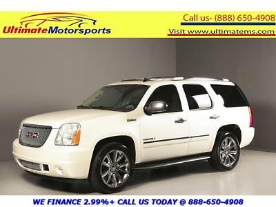 2012 GMC Yukon 2012 DENALI HYBRID NAV DVD SUNROOF 2012 GMC YUKON DENALI HYBRID NAV DVD SUNROOF LEATHER BLIND WHITE WARRANTY
