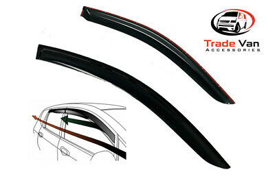 Hyundai I800 Dark Tint Set Of 2 Wind - Rain Deflectors Visors Left And Right