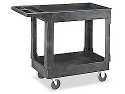 "Uline Utility Cart Gray 45'' x 25'' x 33"" model H-2504"