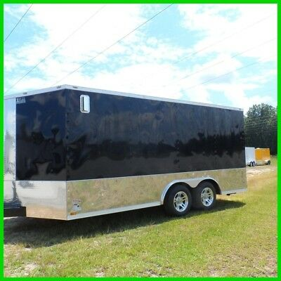 8.5x16 2' v nose 18' w/ 7' int motorcycle enclosed cargo carhauler trailer New