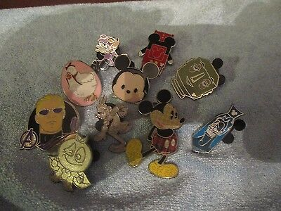 Disney Pin Trading Lot of 10 Assorted Pins - No Doubles - Tradable