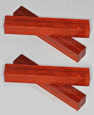 Pen Blanks Padauk African Wood Turning Blanks Short 120mm Four Pack
