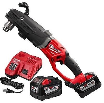 Milwaukee 2709-22HD M18 FUEL Super Hawg Right Angle Drill w/ Two 9.0 Batteries