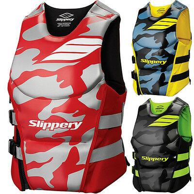 "Slippery ""array"" Side Entry Neoprene Life Vest Pfd Boat Jetski Pick Size & Color"
