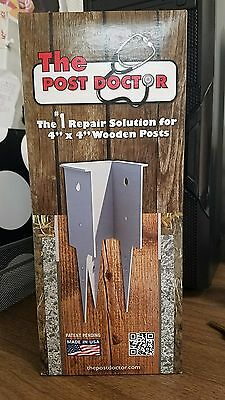 "The Post Doctor Repair kit Mailbox Fence for 4""x4"" wooden posts & paintable USA"