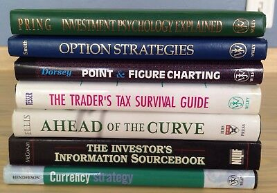 LOT OF 7 BOOKS ON INVESTING, OPTIONS, CURRENCY, TRADING.  Listed Below