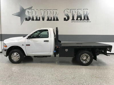 2011 Ram 3500  2011 Ram 3500 DRW 4WD 2DR RegularCab FlatBed 6.7L-Cummins Loaded 1TXowner!