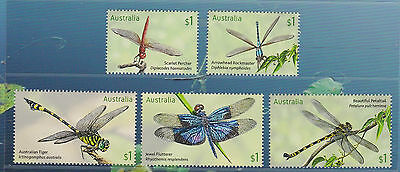 Australia 2017 : Stamp Collecting Month - Dragonflies, Design Set MNH