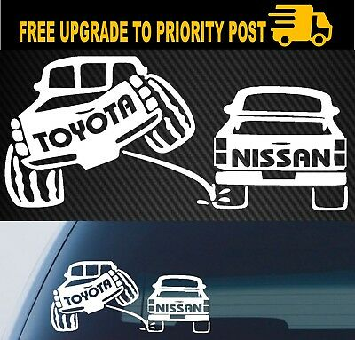 TOYOTA Sticker Decal Pee on nissan 4x4 ute funny Landcruiser Hilux