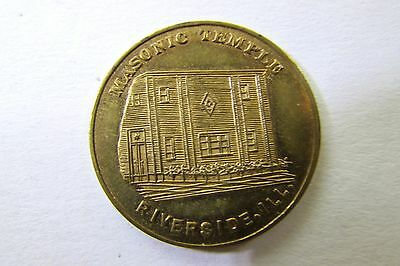 One 1961 Riverside, Illinois Masonic Temple Dedication Token