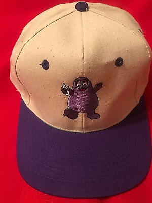 """VINTAGE MCDONALD's """"GRIMACE"""" HAT from the 1990's - Never Worn - Mint Condition"""