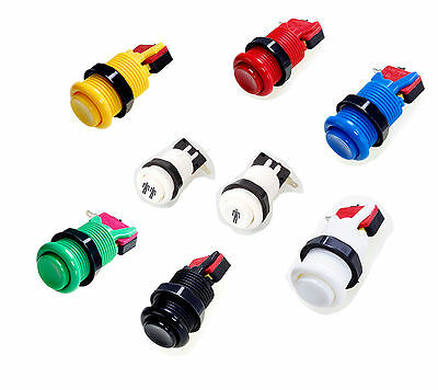 6 Colors & 1P/2P American Style 28mm Standard Arcade Push Button w/Microswitch